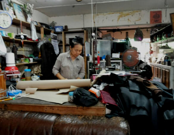 Leather shop in Pattaya